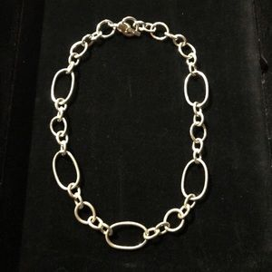 Silver Necklace Stamped Replica T & Co?